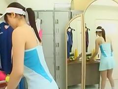 Incredible Japanese slut Junko Hayama in Amazing Changing Room, Fetish JAV scene