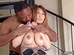 Naturally Big Tittied Japanese Chick Goes For Bbc