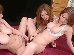 Three Japanese Hotties Lick And Fuck With Sex Toys